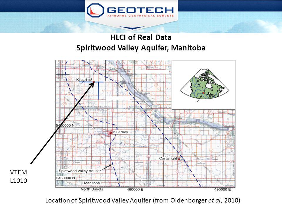 HLCI of Real Data Spiritwood Valley Aquifer, Manitoba