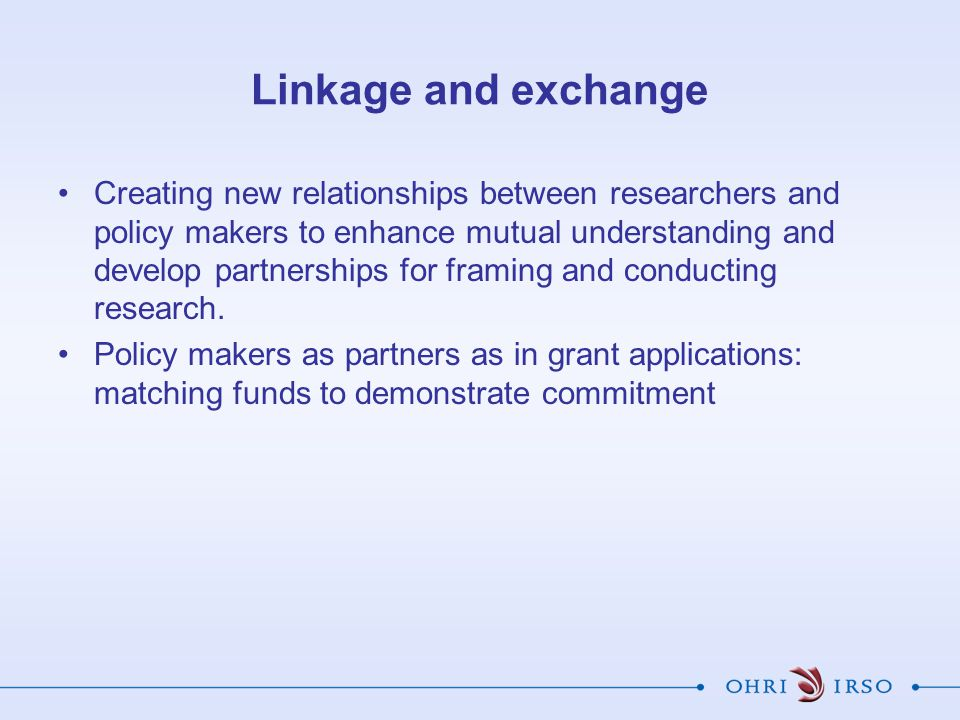 Linkage and exchange