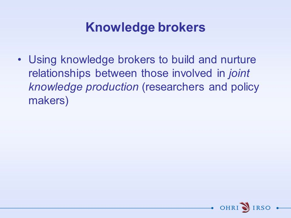 Knowledge brokers
