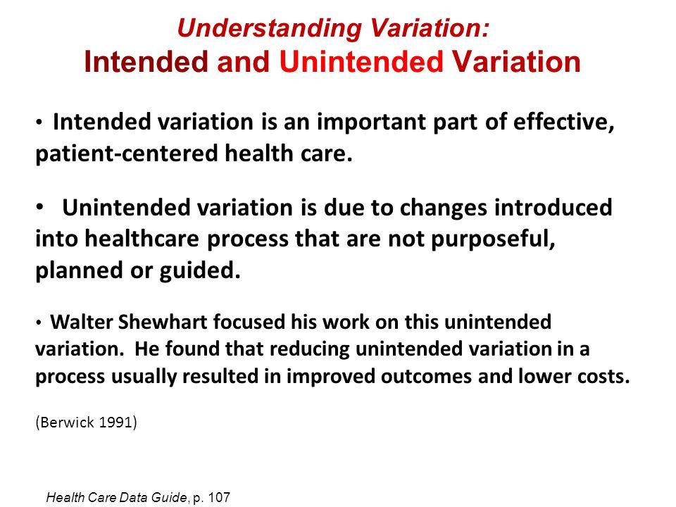Understanding Variation: Intended and Unintended Variation