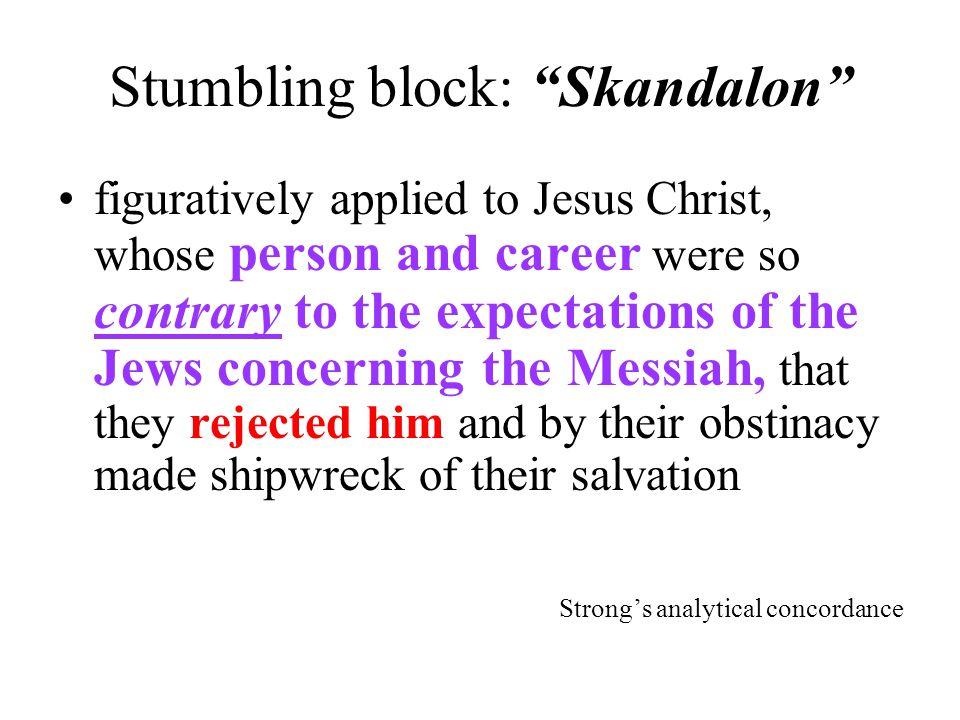 Stumbling block: Skandalon