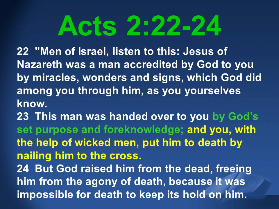 Acts 2:22-24