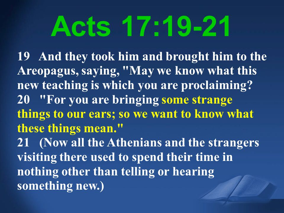 Acts 17:19-21