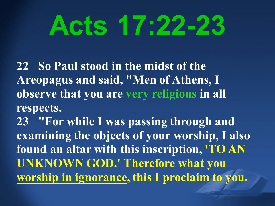 Acts 17:22-23