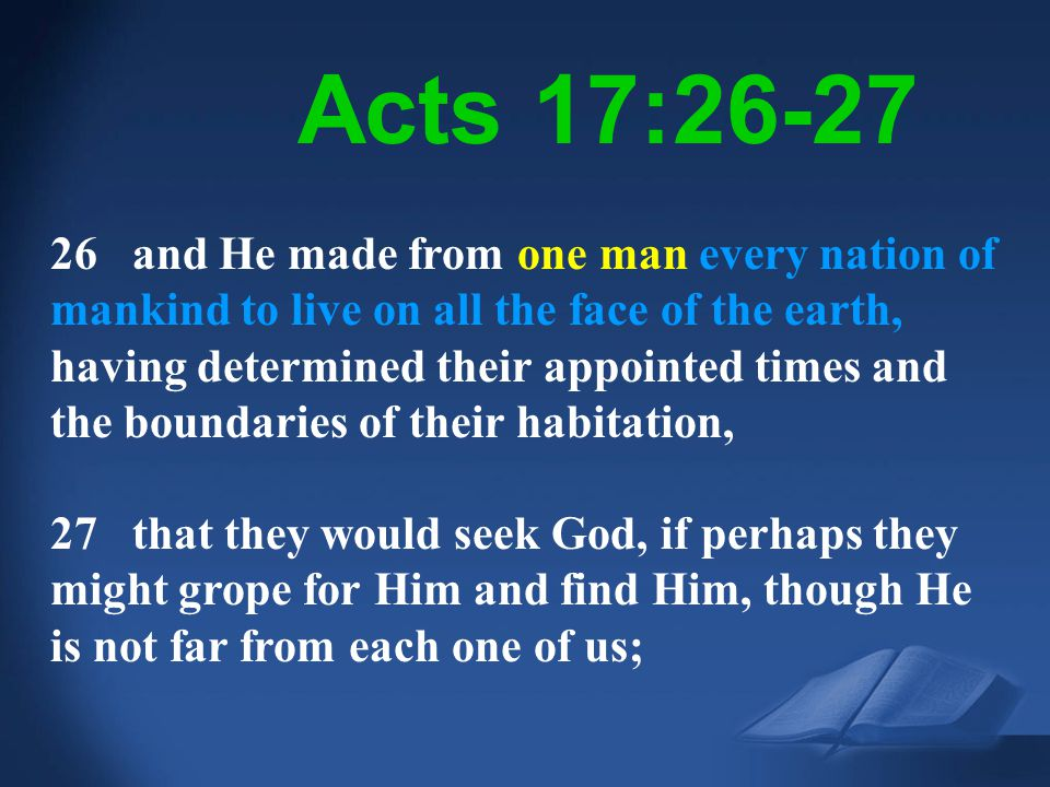 Acts 17:26-27