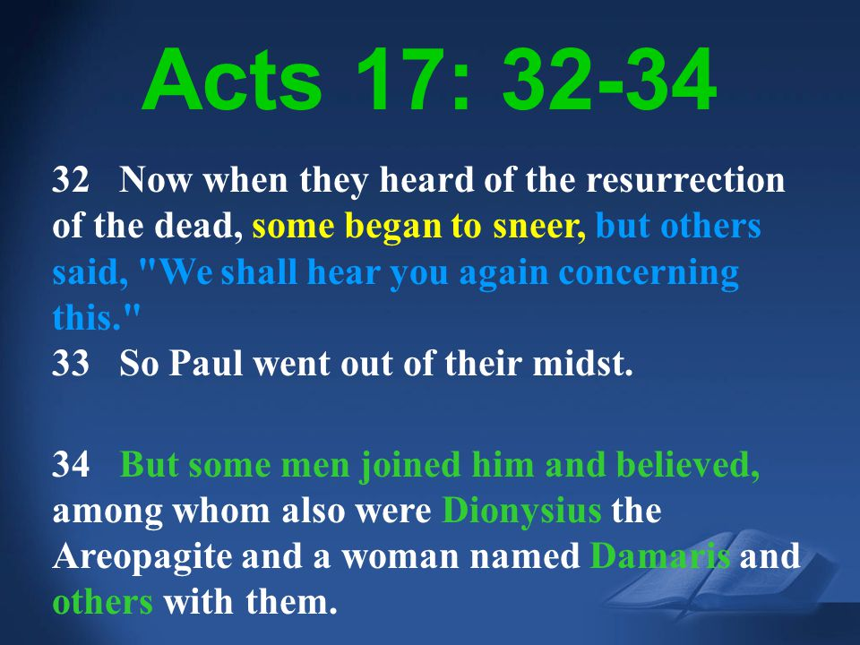 Acts 17: 32-34