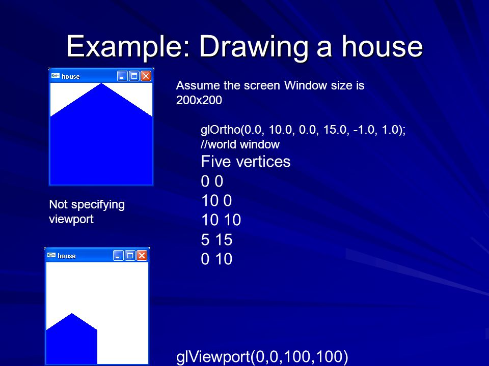 Example: Drawing a house