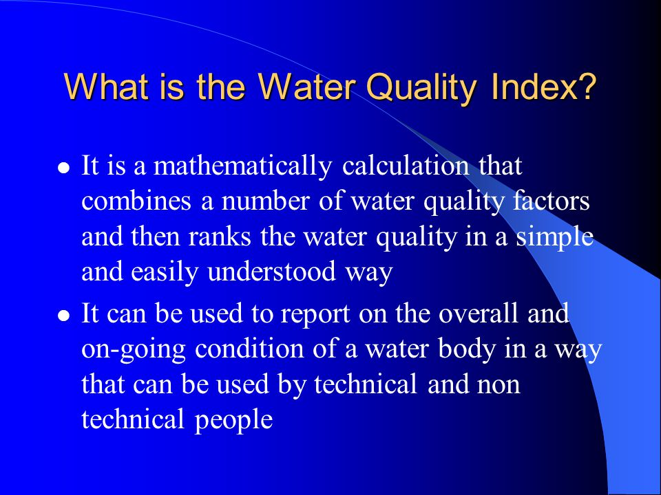 What is the Water Quality Index