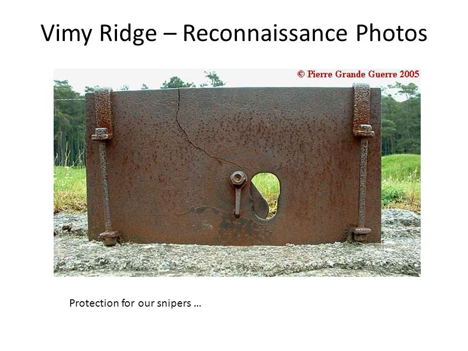 Vimy Ridge – Reconnaissance Photos