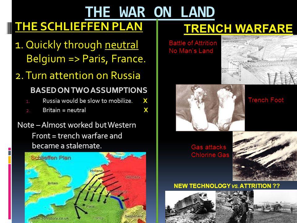 THE WAR ON LAND THE SCHLIEFFEN PLAN