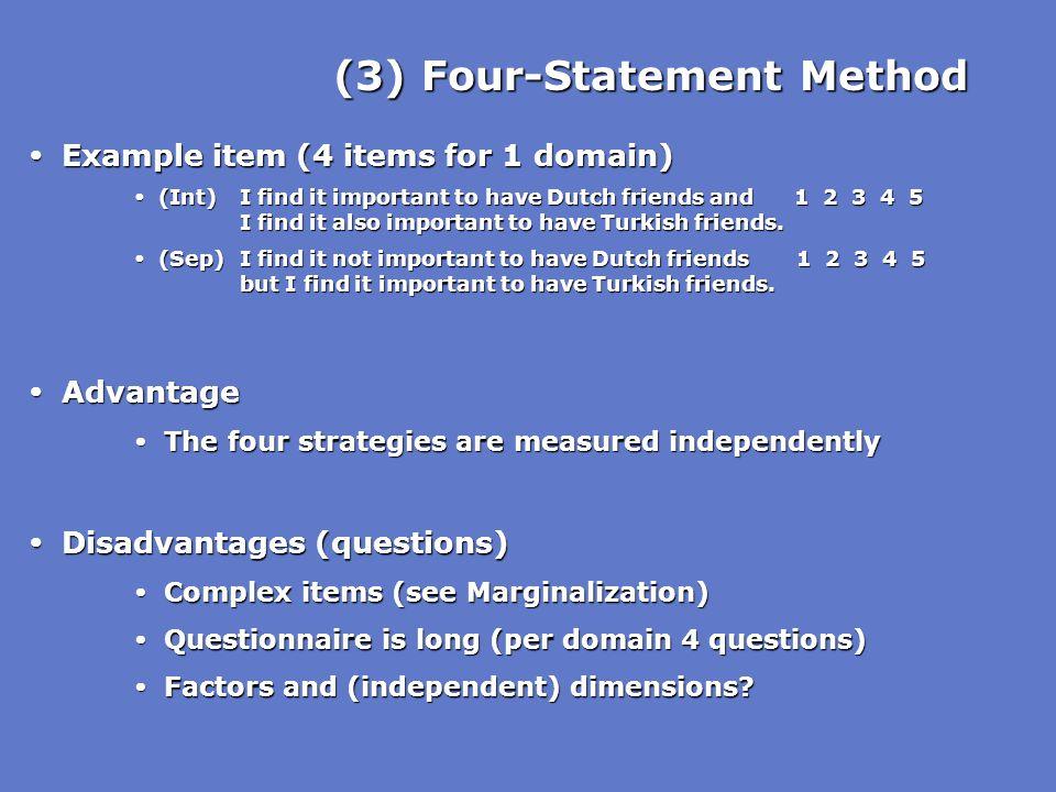 (3) Four-Statement Method