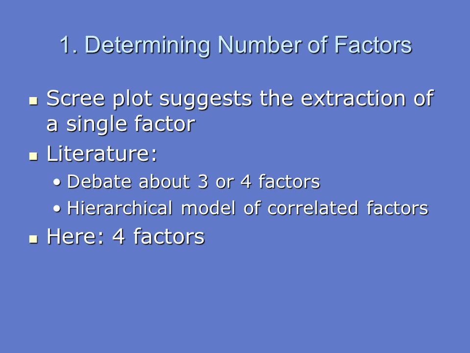 1. Determining Number of Factors