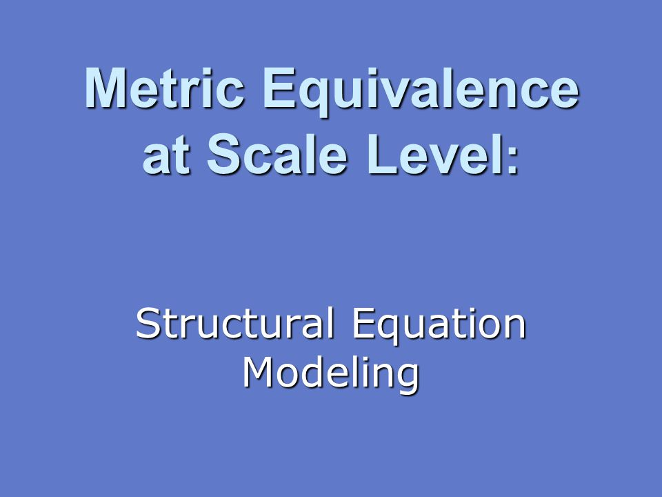 Metric Equivalence at Scale Level: