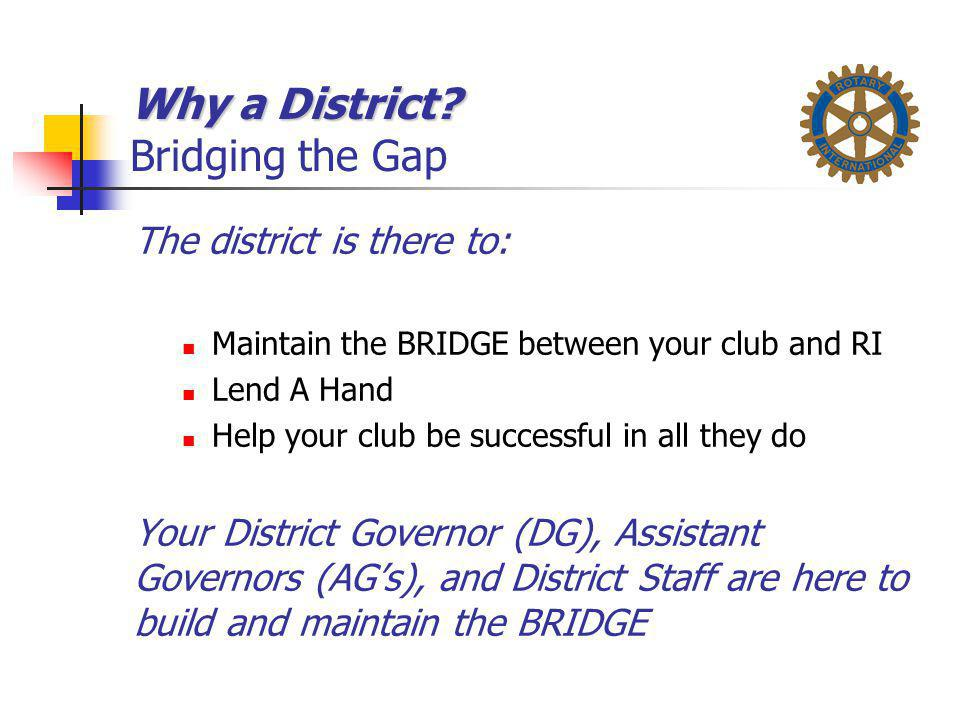Why a District Bridging the Gap
