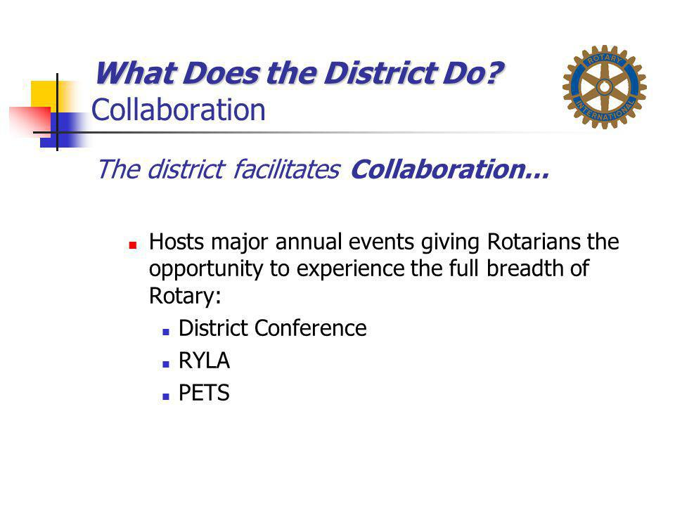 What Does the District Do Collaboration