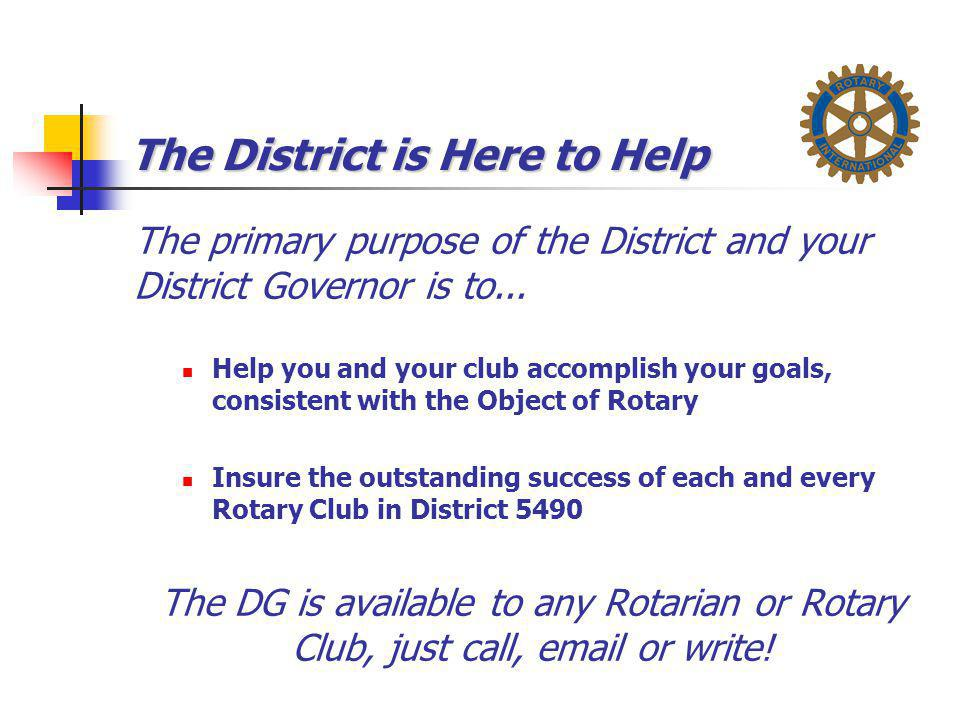 The District is Here to Help