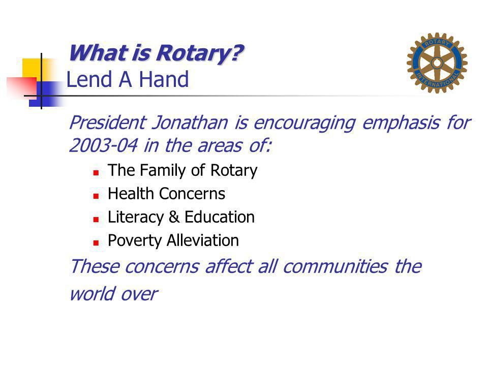 What is Rotary Lend A Hand