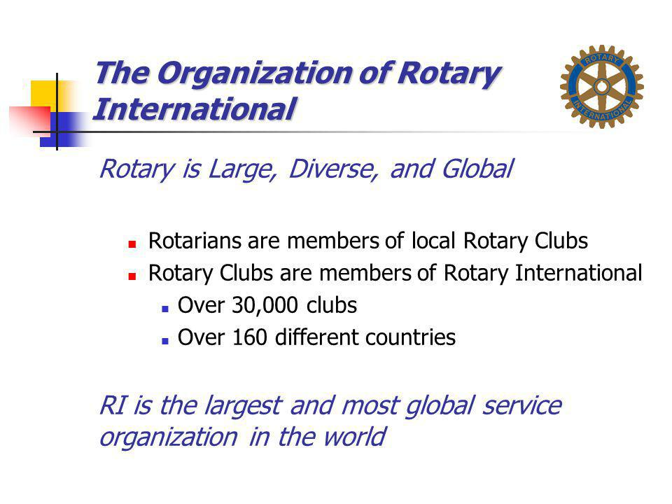 The Organization of Rotary International