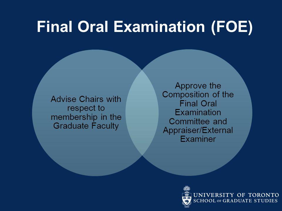 Final Oral Examination (FOE)