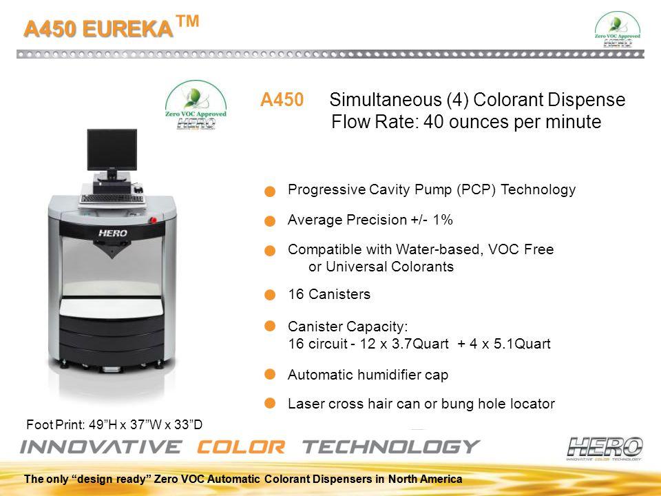 A450 EUREKA™ A450 Simultaneous (4) Colorant Dispense