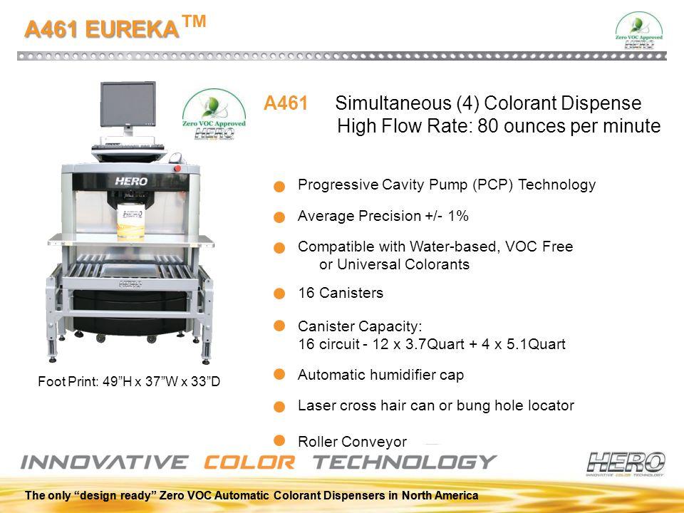 A461 EUREKA™ A461 Simultaneous (4) Colorant Dispense