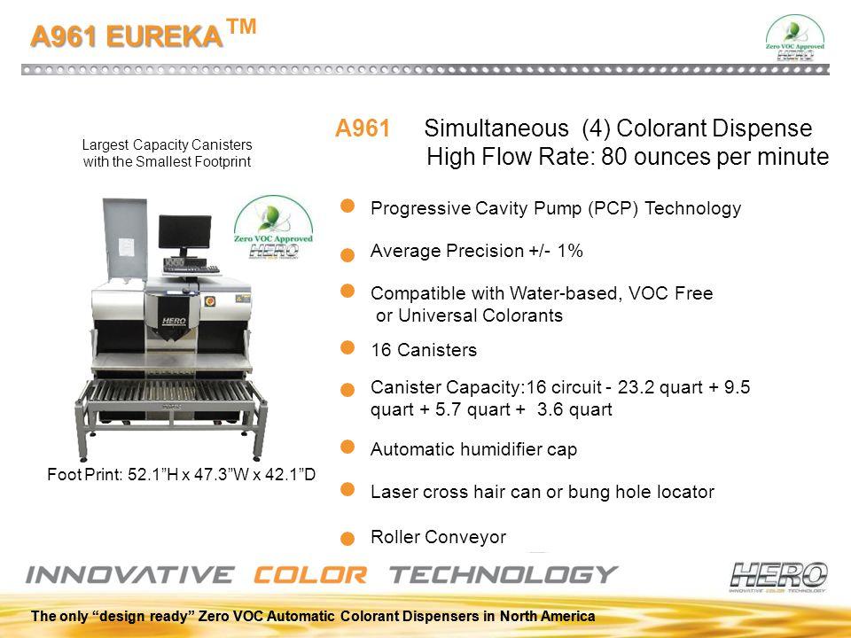 A961 EUREKA™ A961 Simultaneous (4) Colorant Dispense