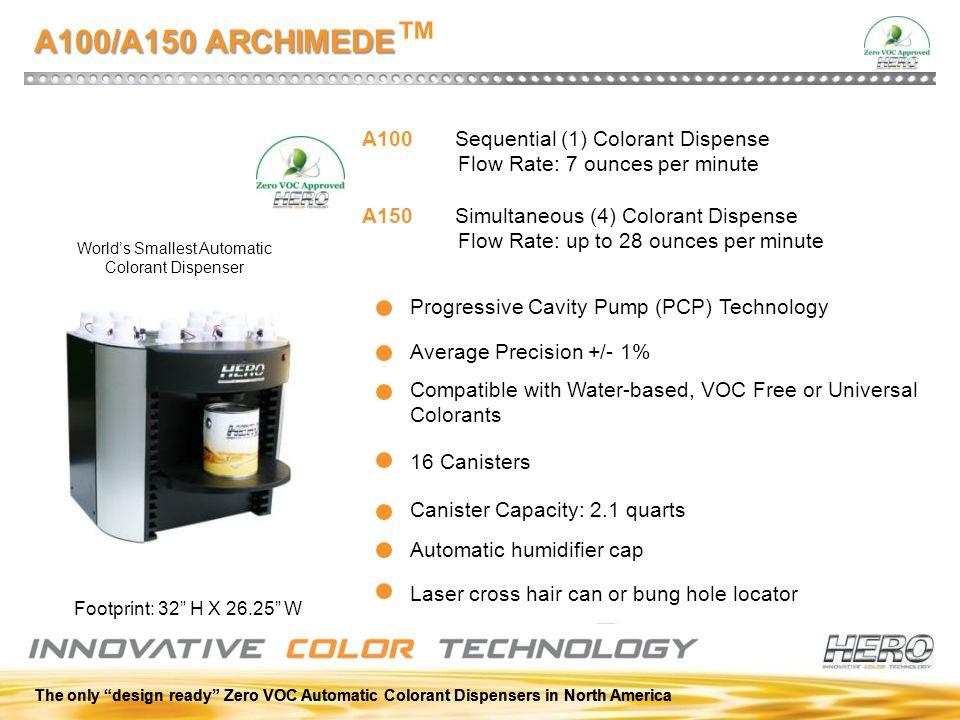 World's Smallest Automatic Colorant Dispenser