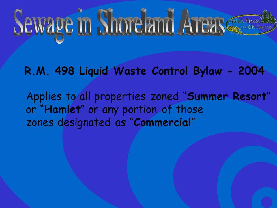 Sewage in Shoreland Areas