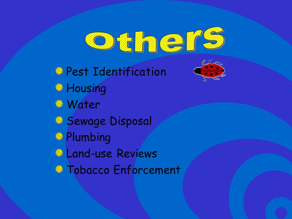 Others Pest Identification Housing Water Sewage Disposal Plumbing