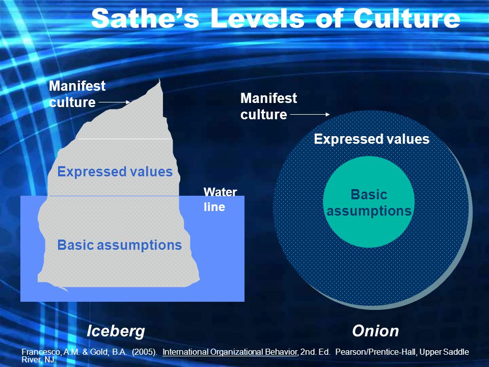 Sathe's Levels of Culture