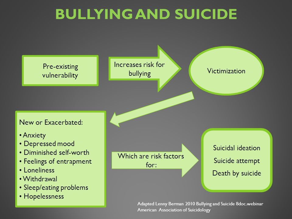 Bullying and Suicide Pre-existing vulnerability