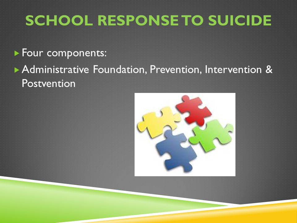 SCHOOL RESPONSE TO SUICIDE