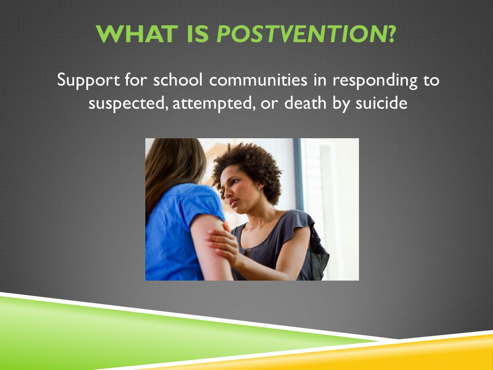 What is postvention.