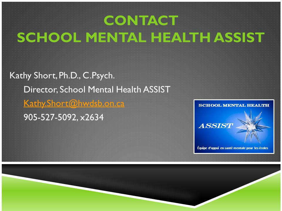 Contact School Mental Health ASSIST