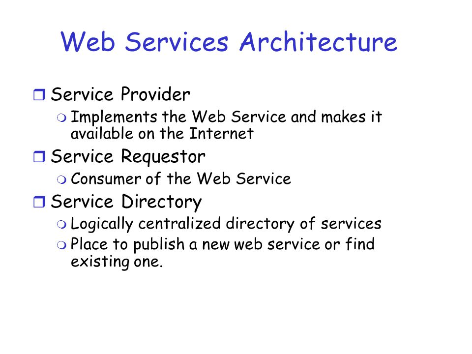 Web Services Architecture