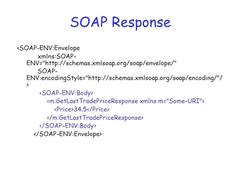 SOAP Response <SOAP-ENV:Envelope