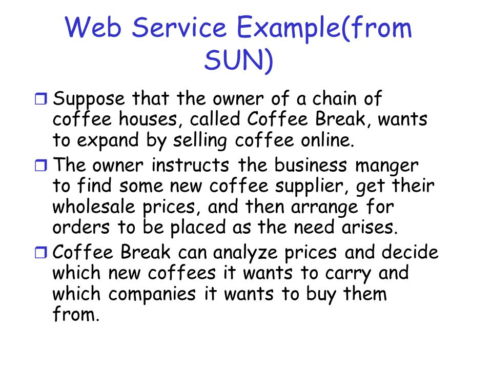 Web Service Example(from SUN)