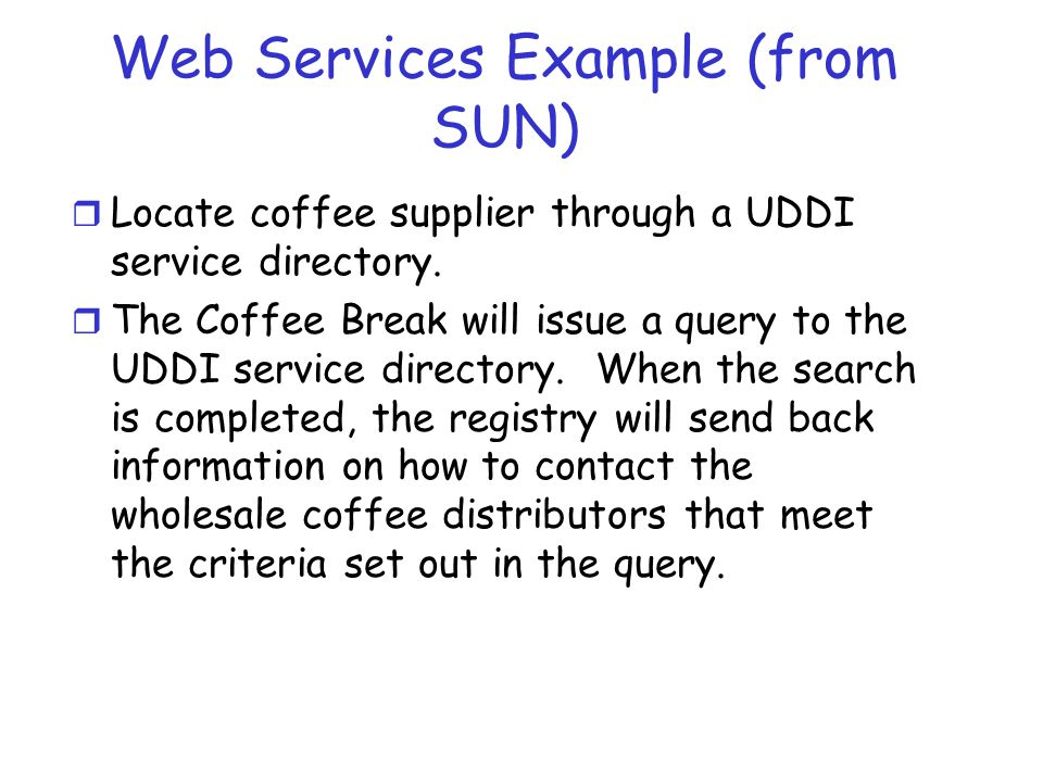 Web Services Example (from SUN)