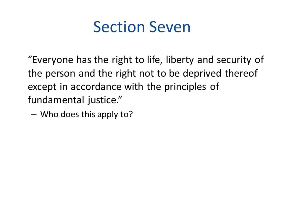 Section Seven