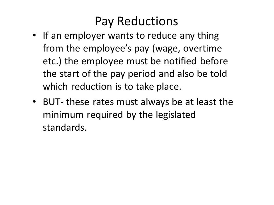 Pay Reductions