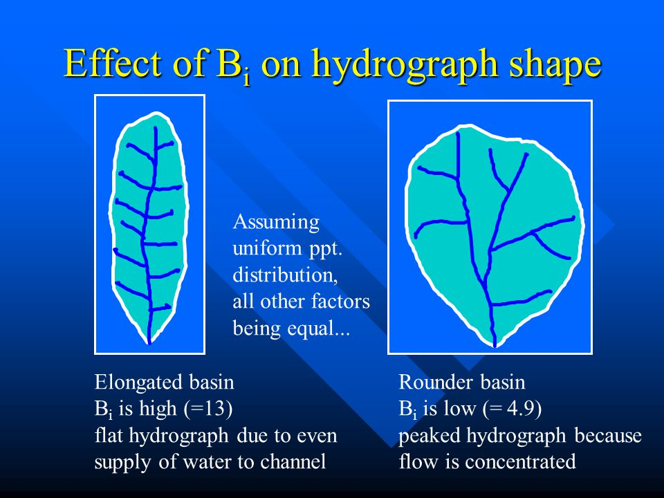 Effect of Bi on hydrograph shape