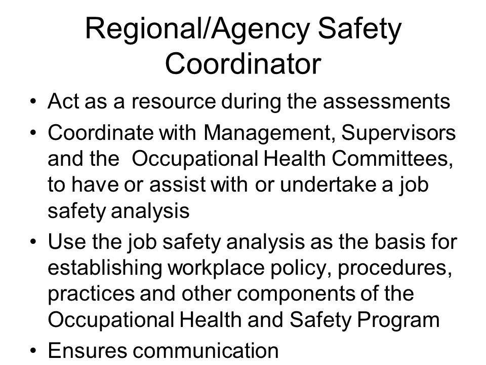 Regional/Agency Safety Coordinator