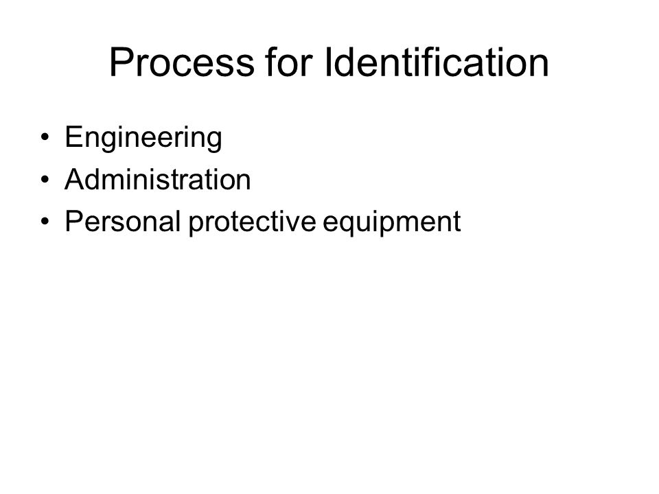 Process for Identification