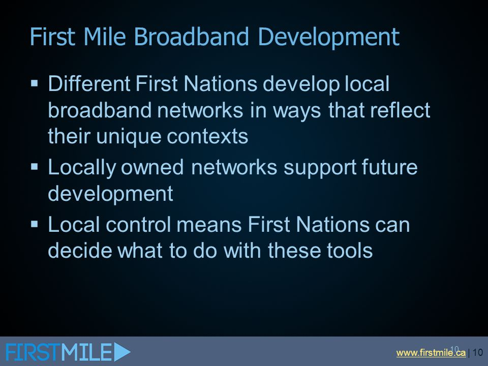 First Mile Broadband Development