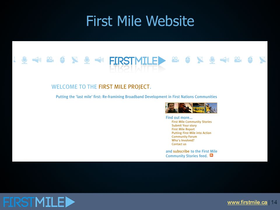 First Mile Website