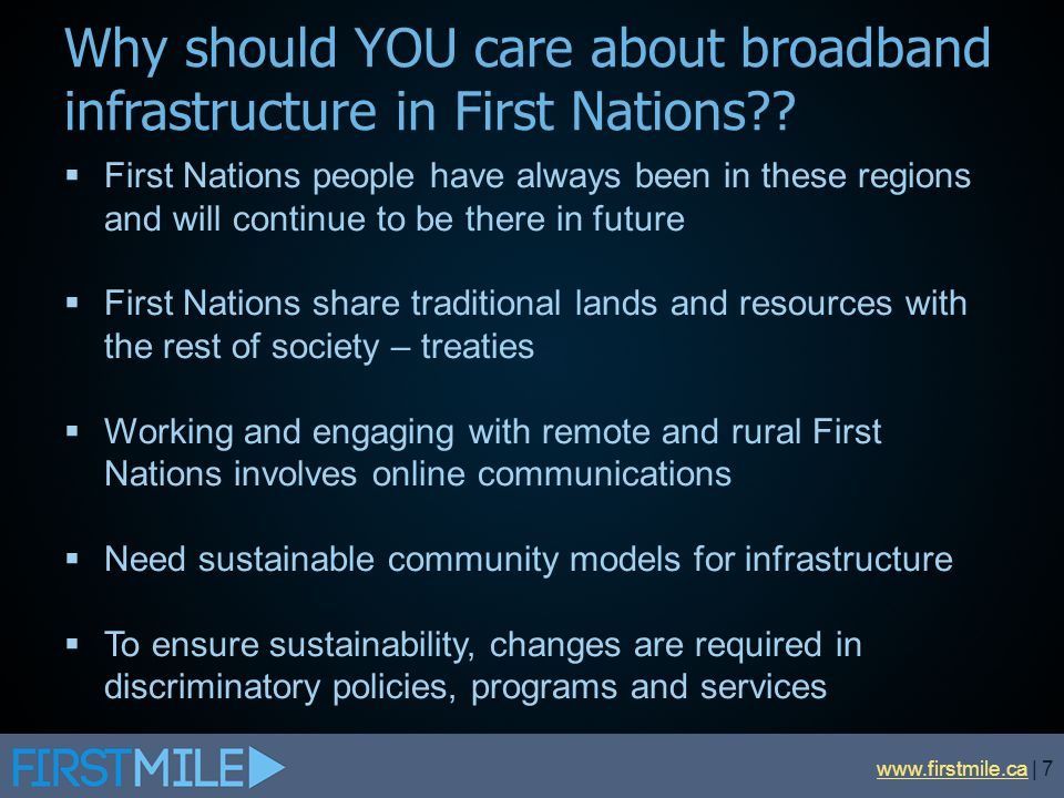 Why should YOU care about broadband infrastructure in First Nations
