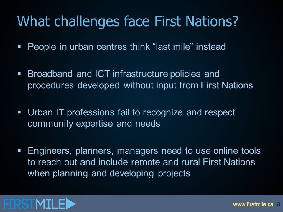 What challenges face First Nations