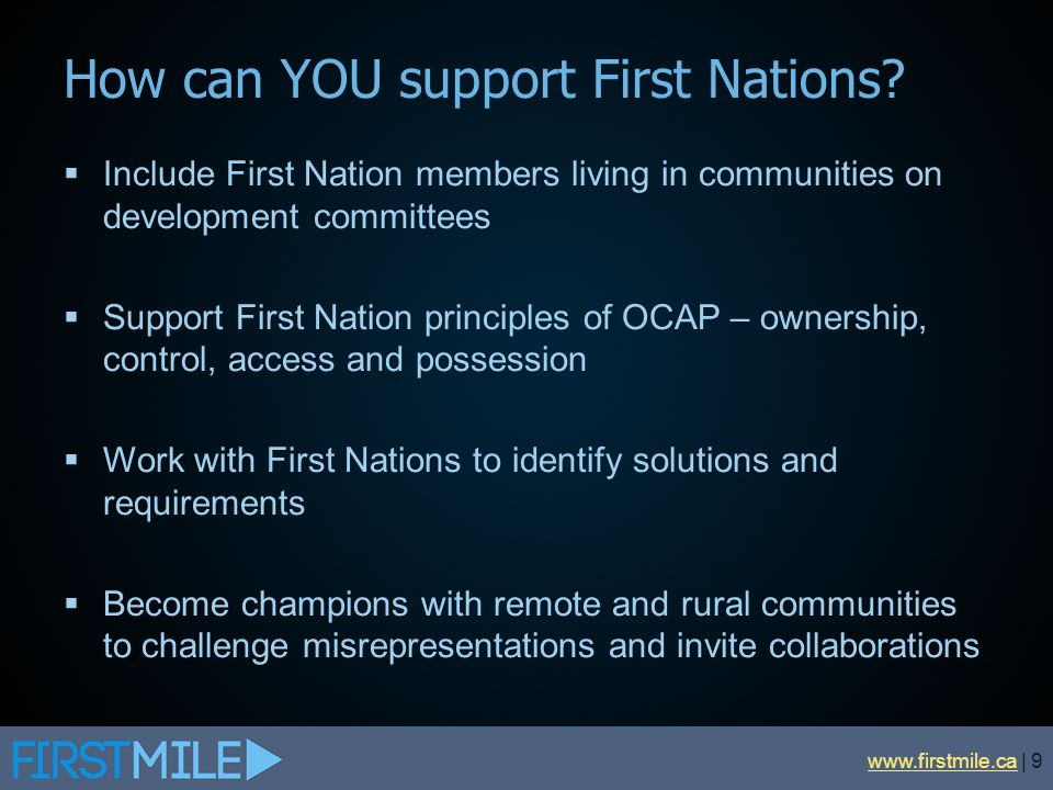 How can YOU support First Nations