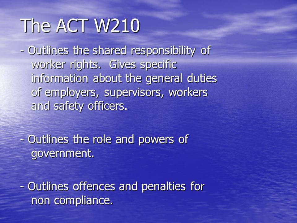 The ACT W210