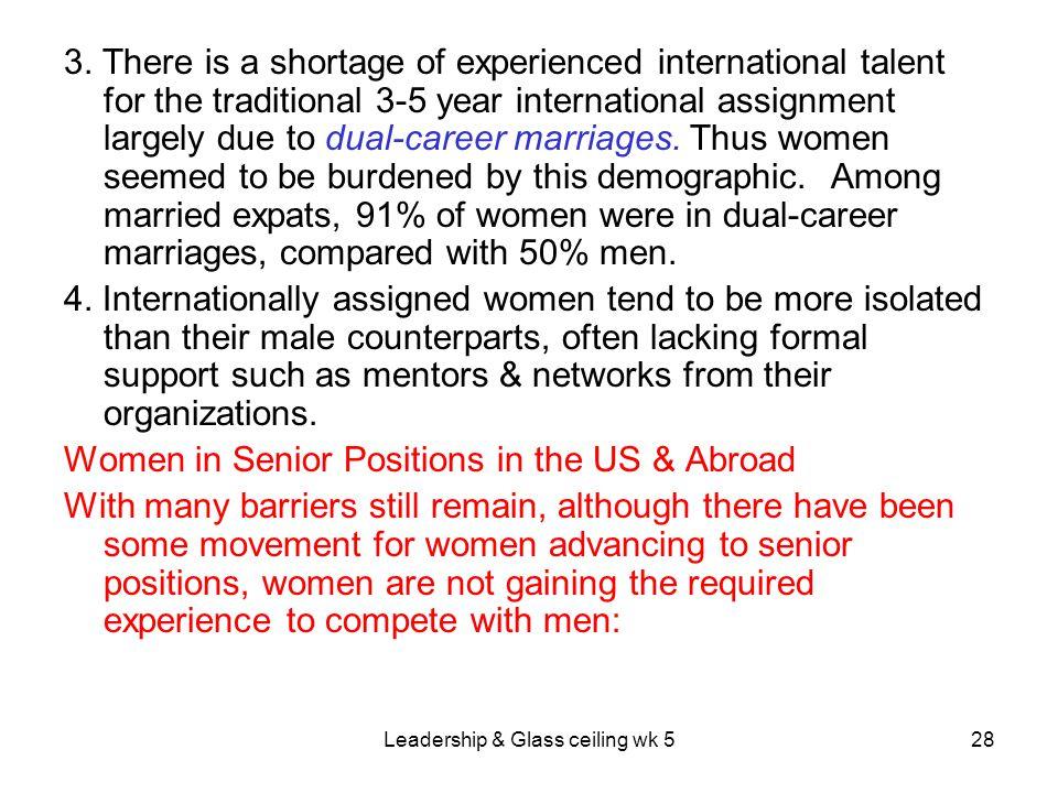 Leadership & Glass ceiling wk 5